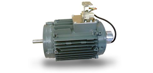 Electric motor with encoder for cylinder engraving for gravure